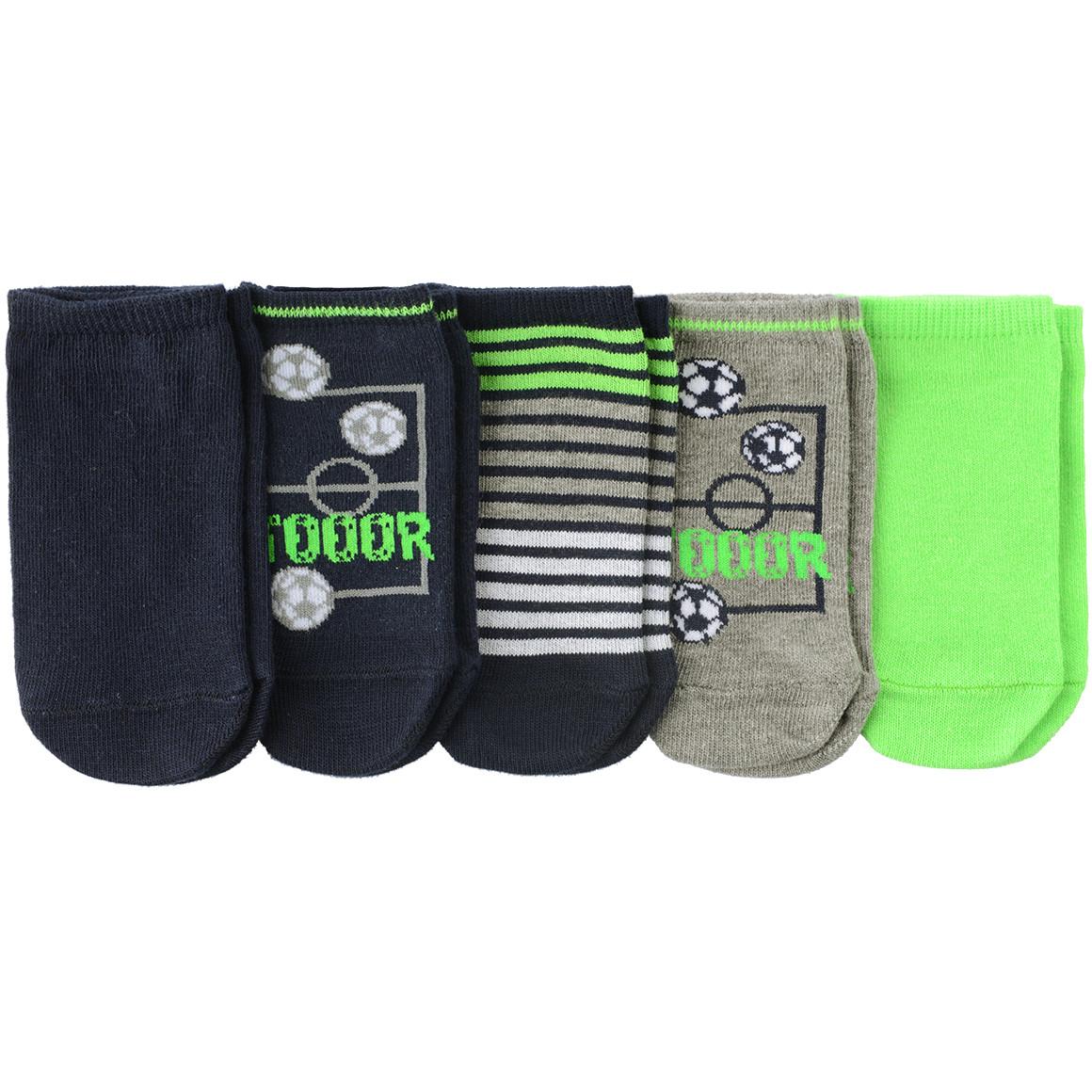 5 Paar Jungen Sneaker Socken im Set