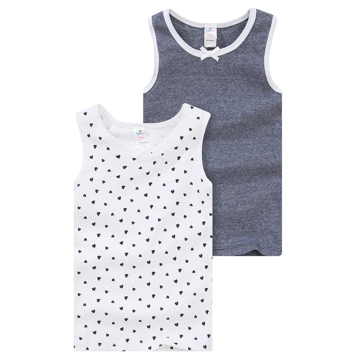 2 Baby Unterhemden mit Zierschleife