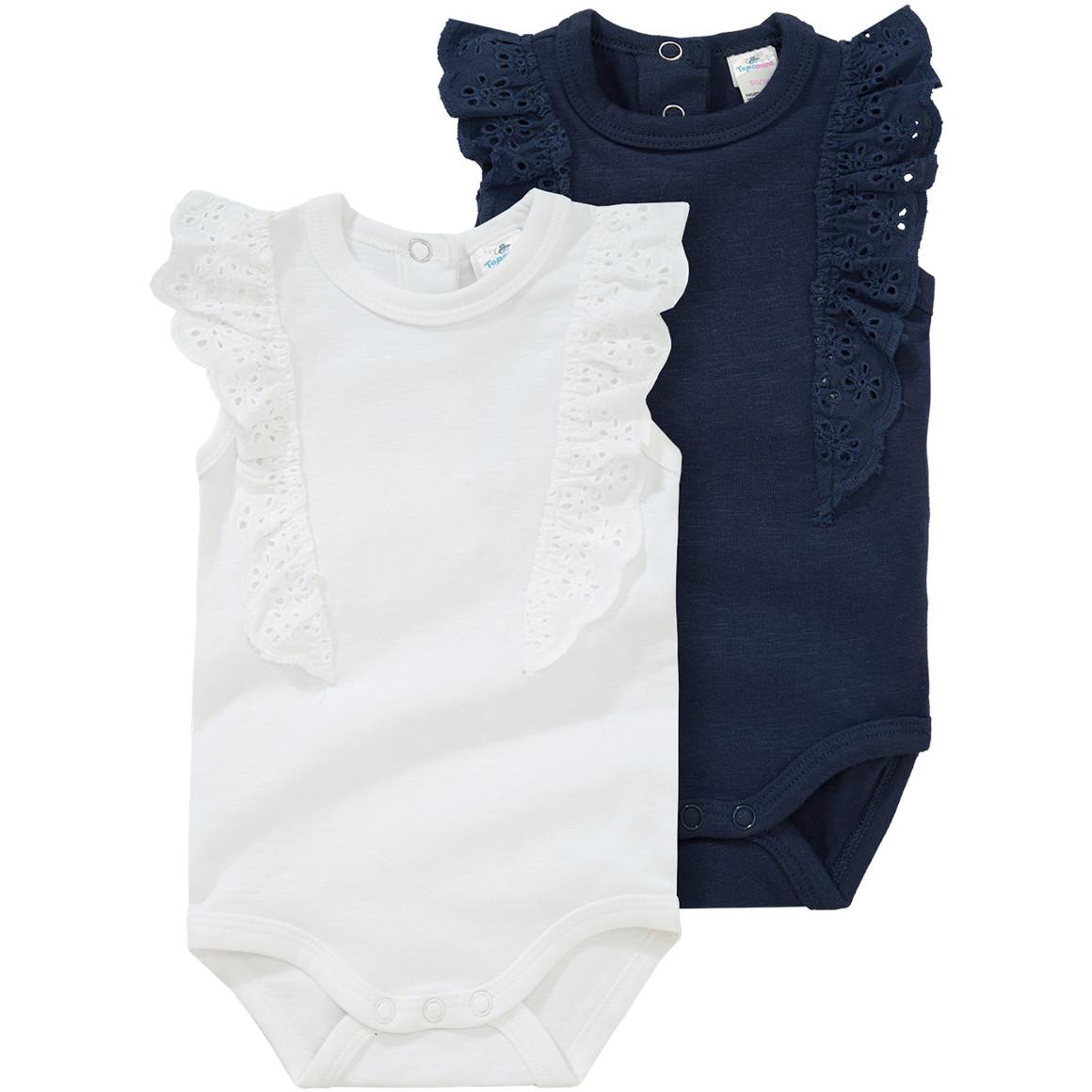 2 Baby Bodys mit Volant