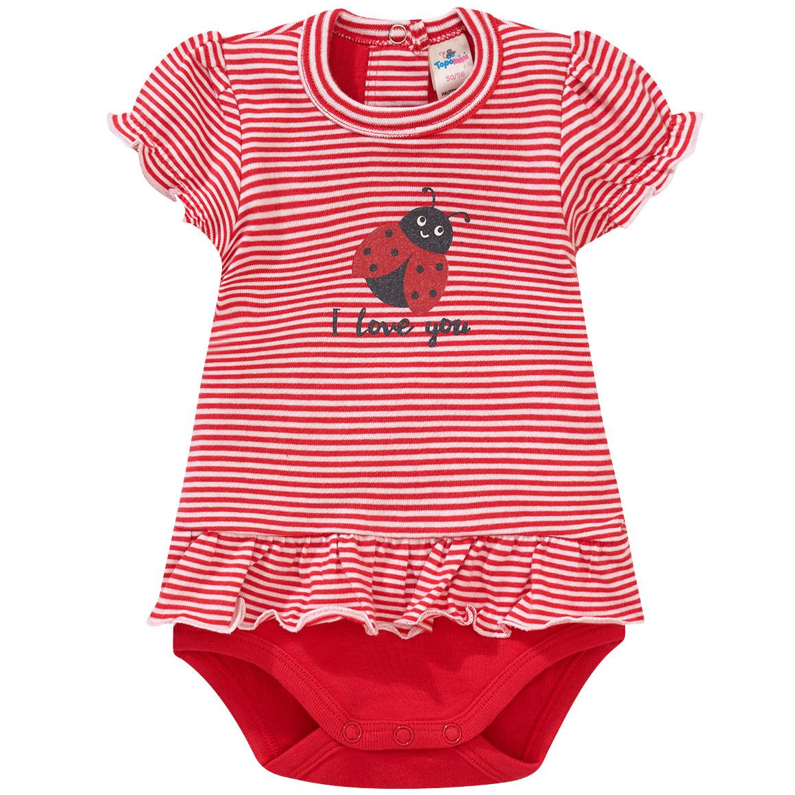 Baby Bodykleid mit Marienkäfer Print
