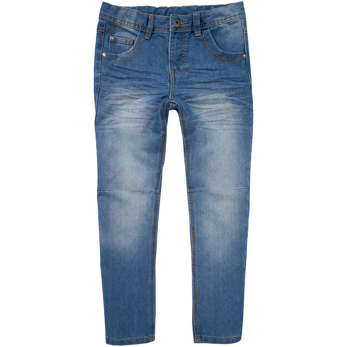 Jungen Exxtra Size Jeans mit Used Waschung