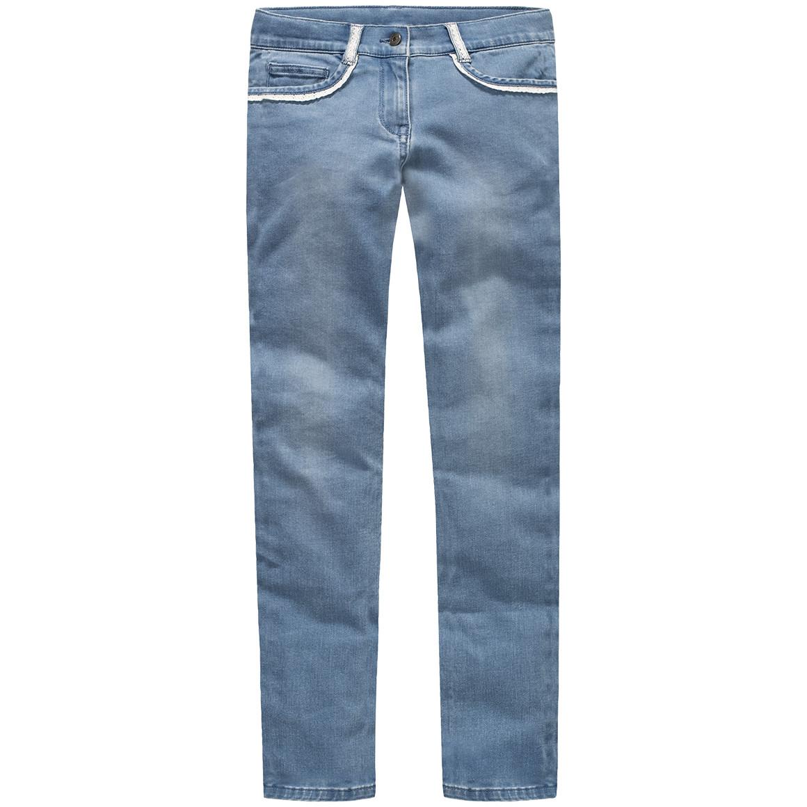 Mädchen Exxtra Size Skinny Jeans mit Spitze