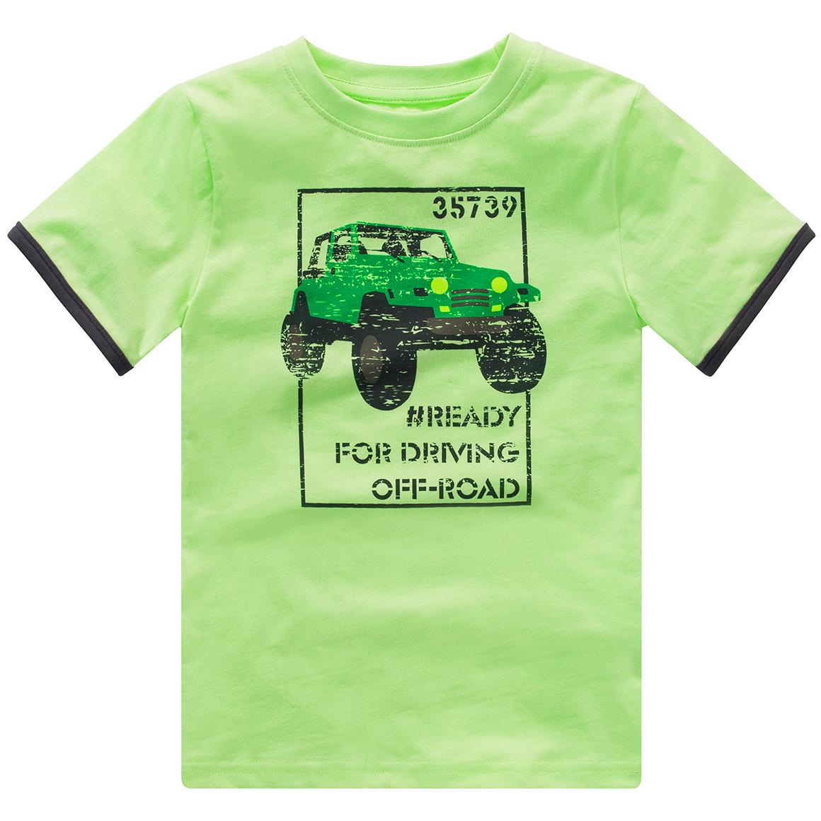 Jungen T-Shirt mit Auto Print
