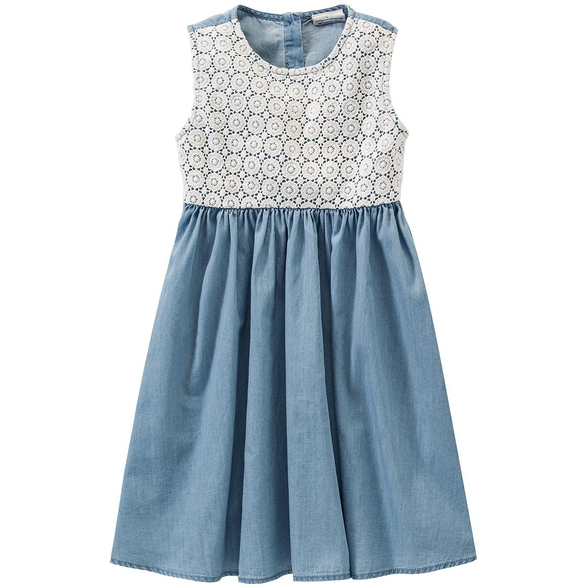 Mädchen Kleid mit Spitzenbesatz
