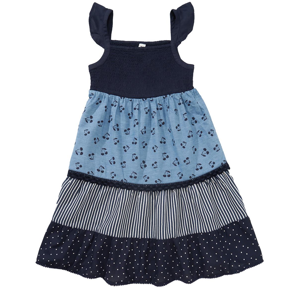 Mädchen Kleid im Patchwork Dessin