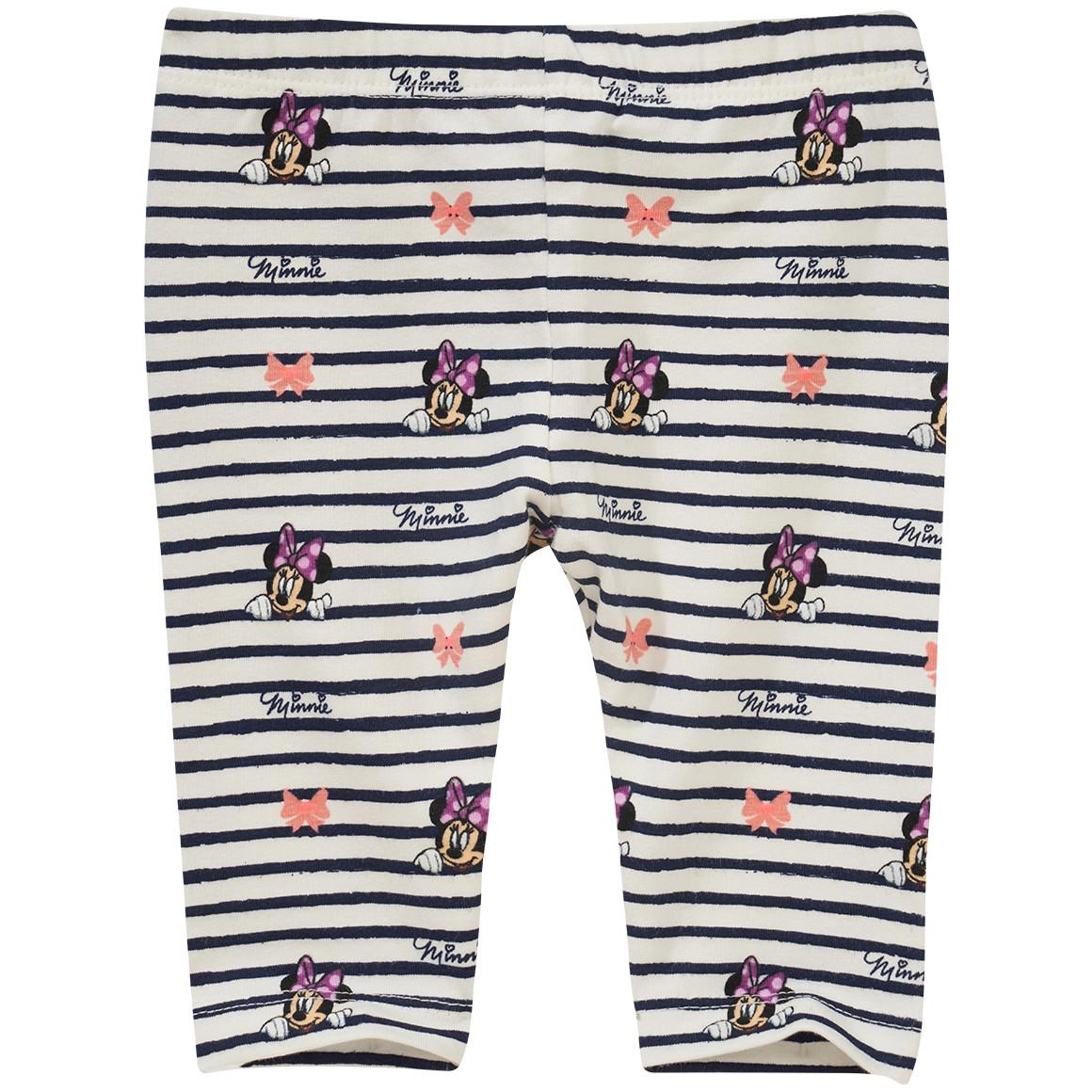 Minnie Maus Capri Leggings im Streifen Look