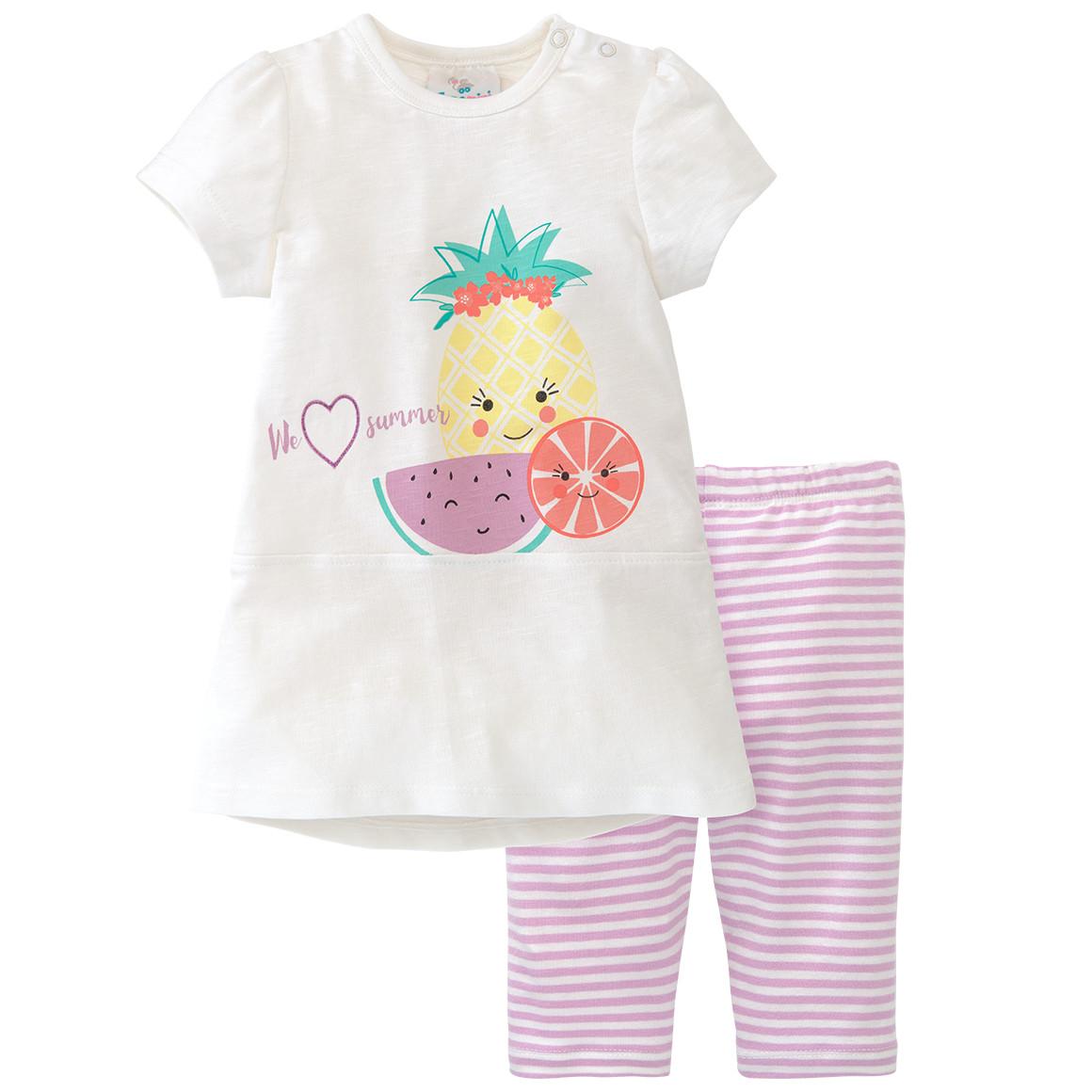 Baby Longshirt und Capri Leggings im Set