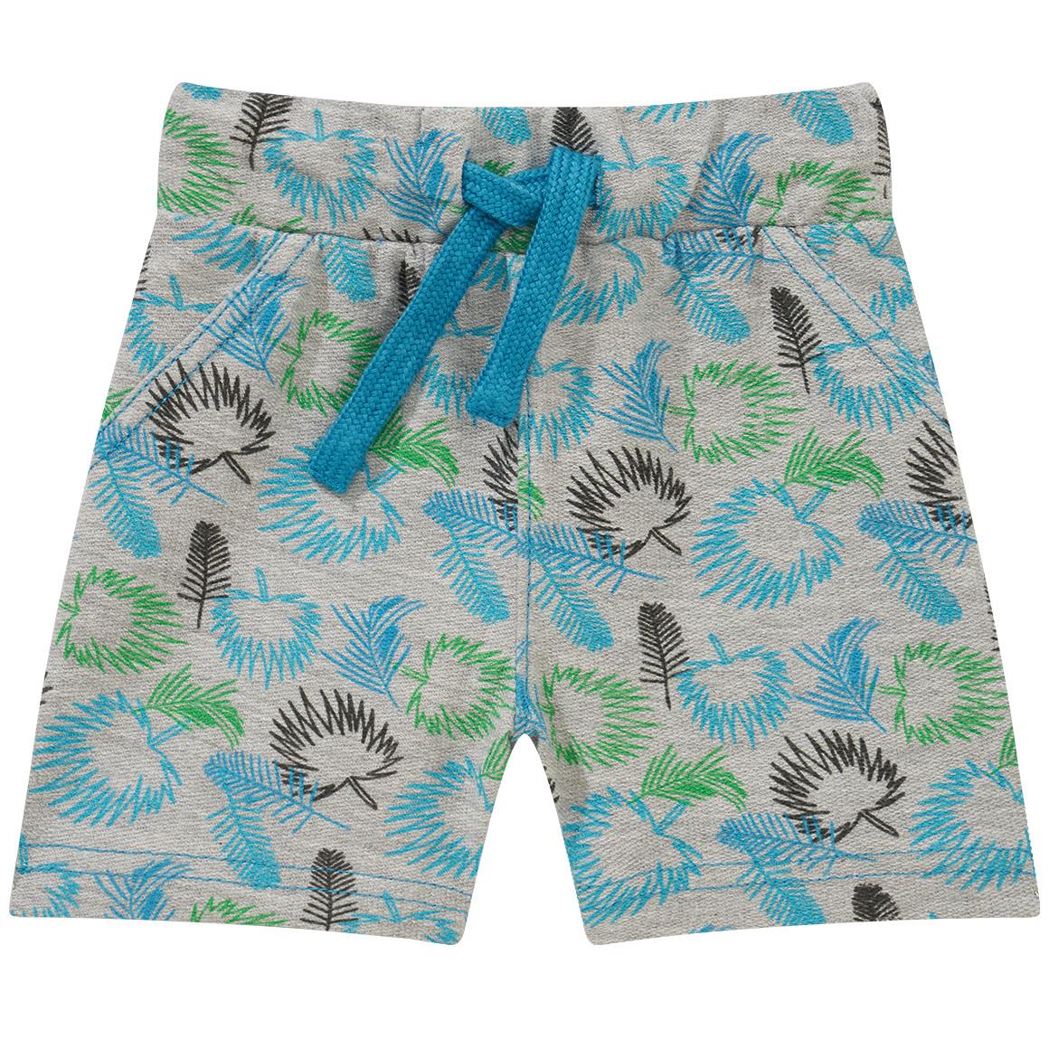 Baby Shorts mit Pflanzen Print
