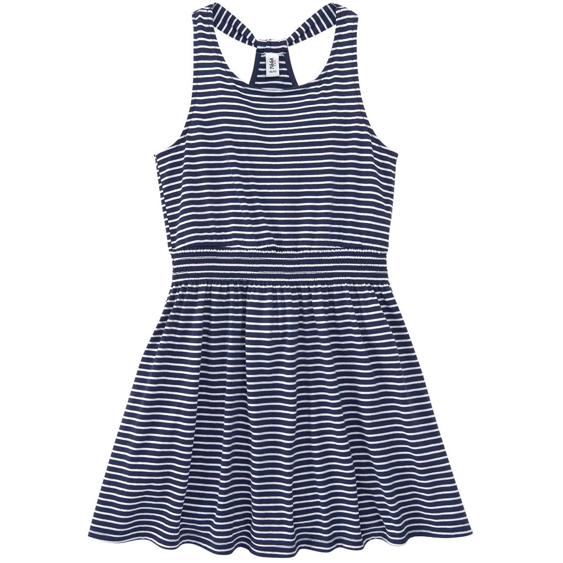 Mädchen Kleid im gestreiftem Dessin