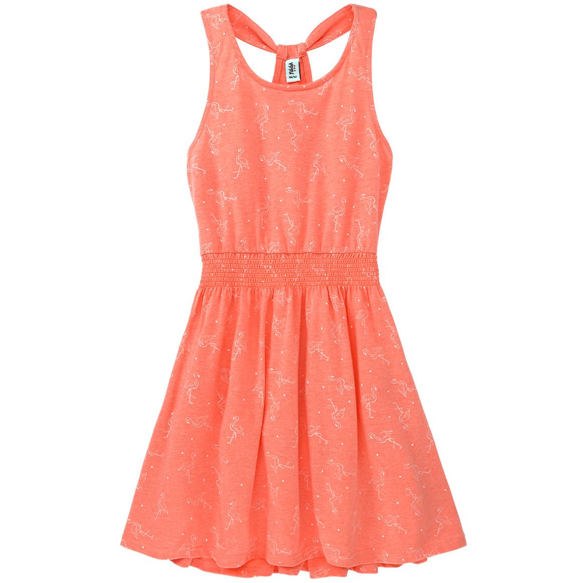 Mädchen Kleid mit Flamingo Allover