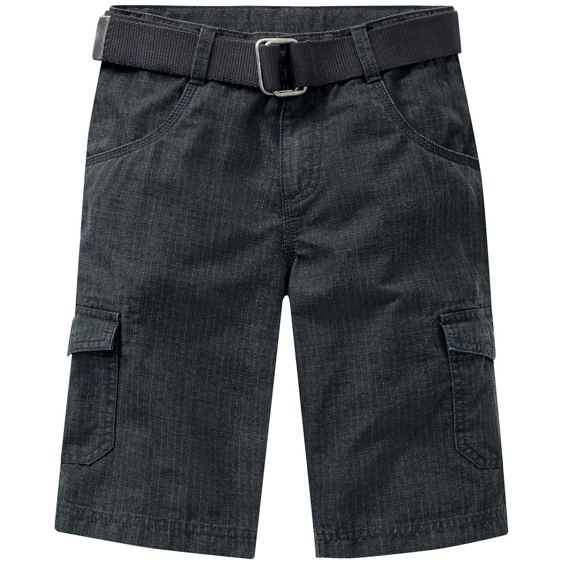 Jungen Shorts mit Canvasgürtel