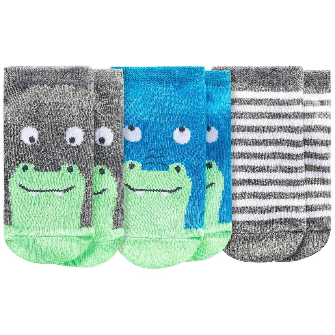 3 Paar Baby Sneaker Socken