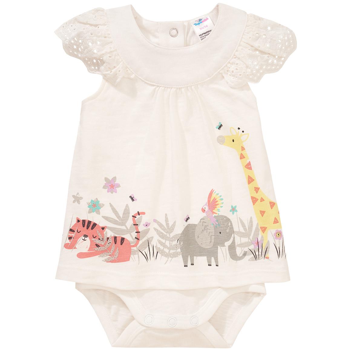 Baby Bodykleid mit Lochstickerei