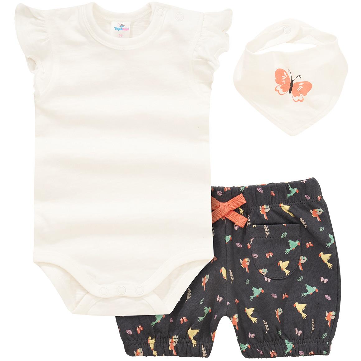 Baby Body, Shorts und Bandana im Set