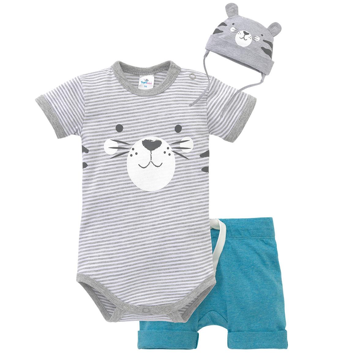 Baby Body, Shorts und Mütze im Set