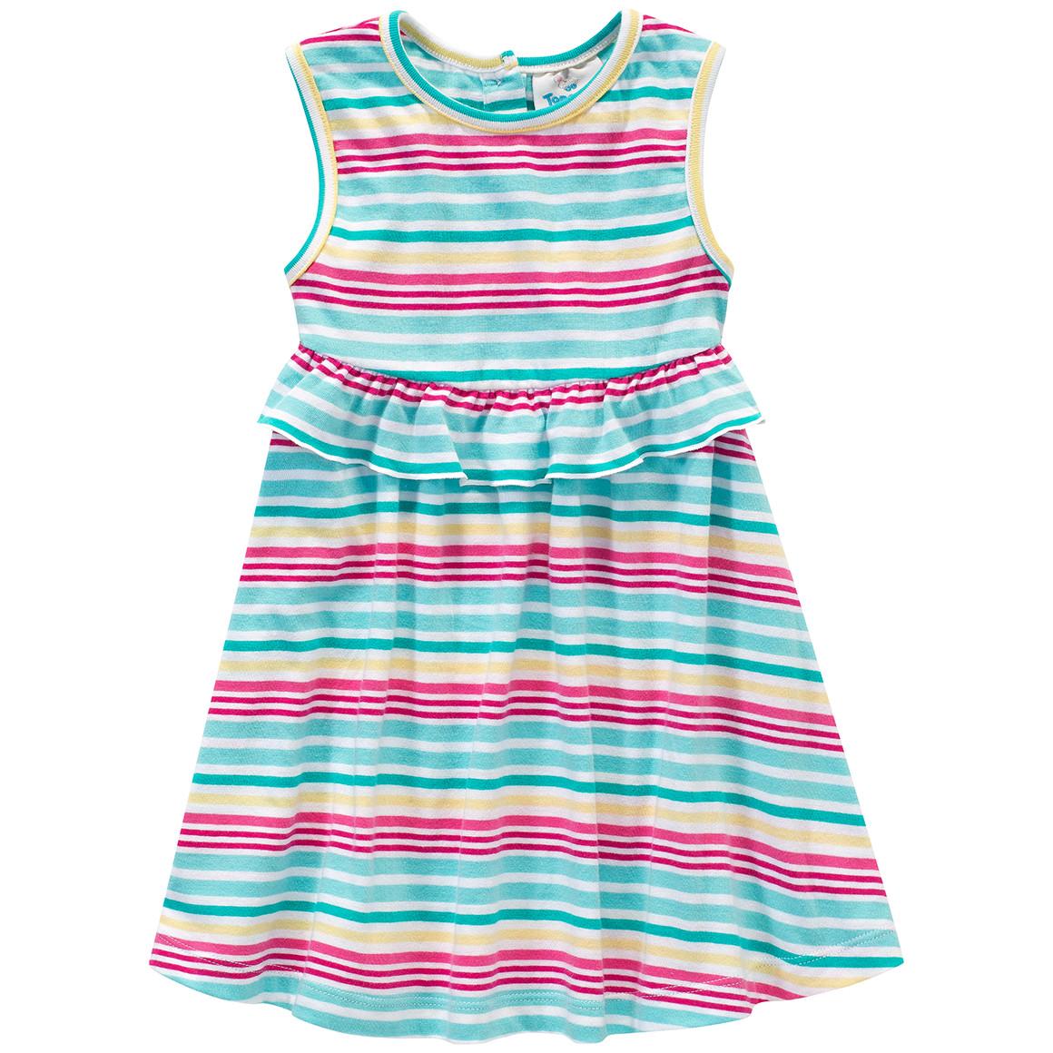 Baby Kleid im bunten Ringel Look
