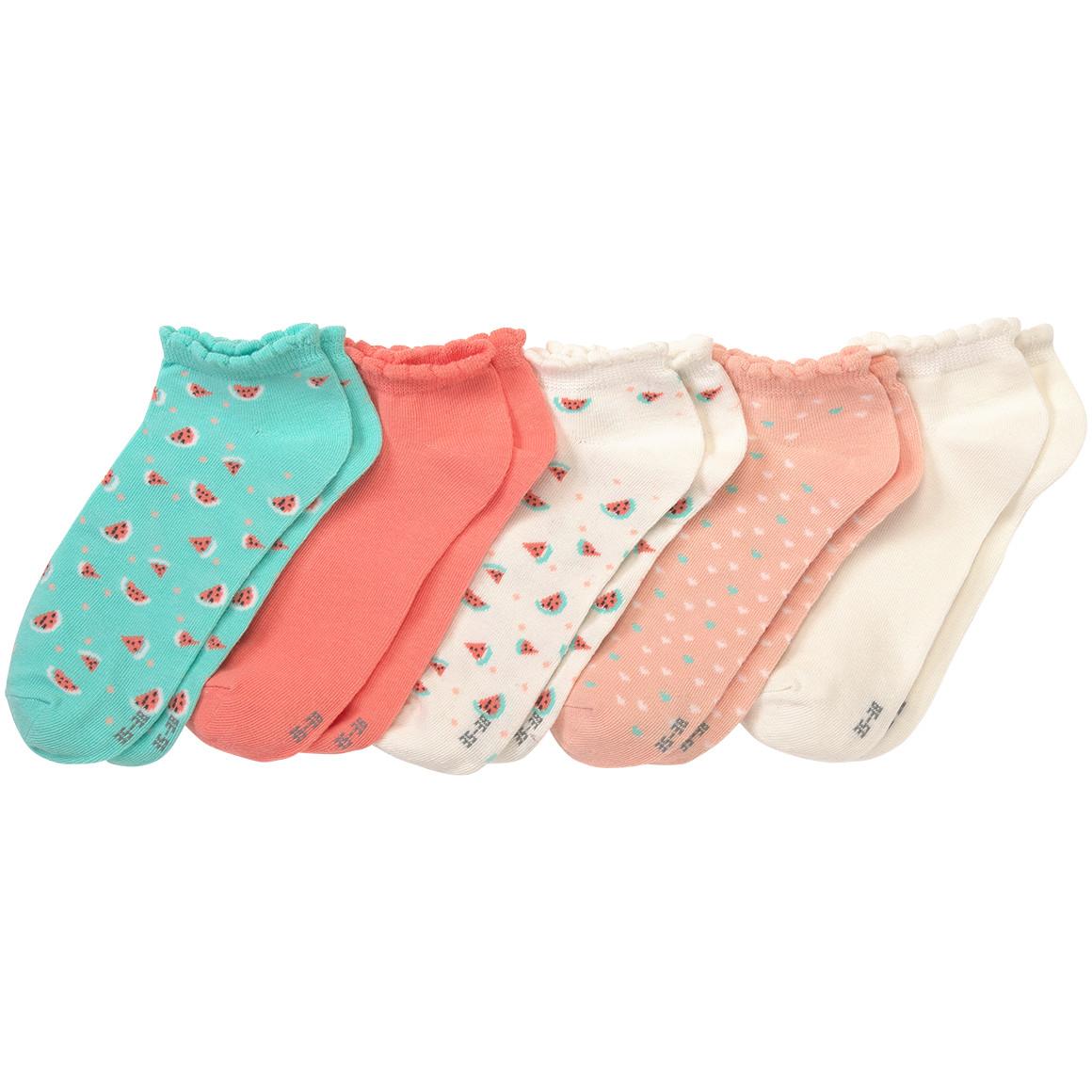 5 Paar Mädchen Sneaker Socken