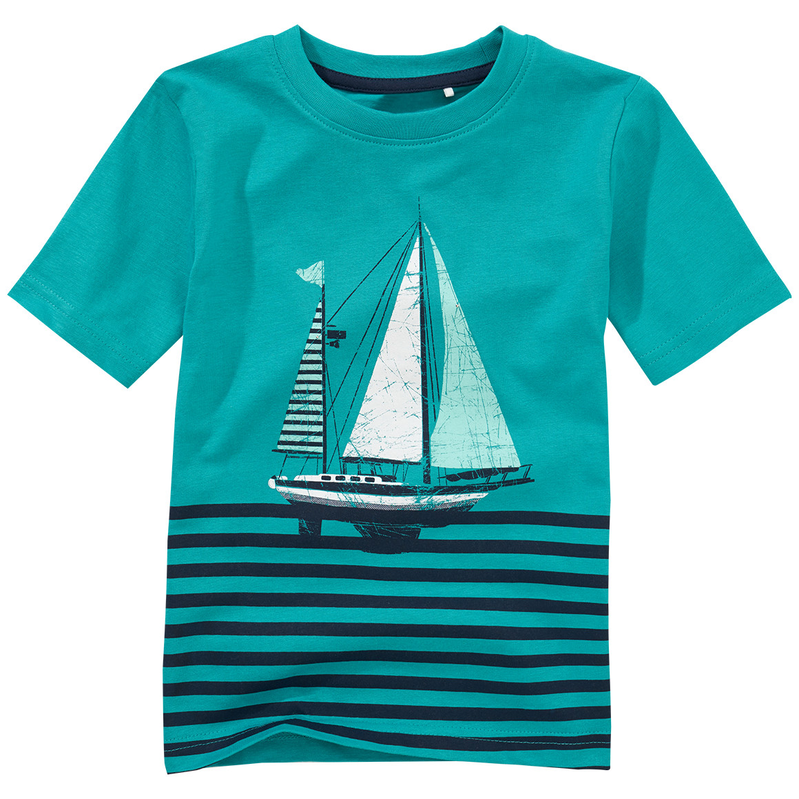 Jungen T-Shirt mit Segelschiff Print