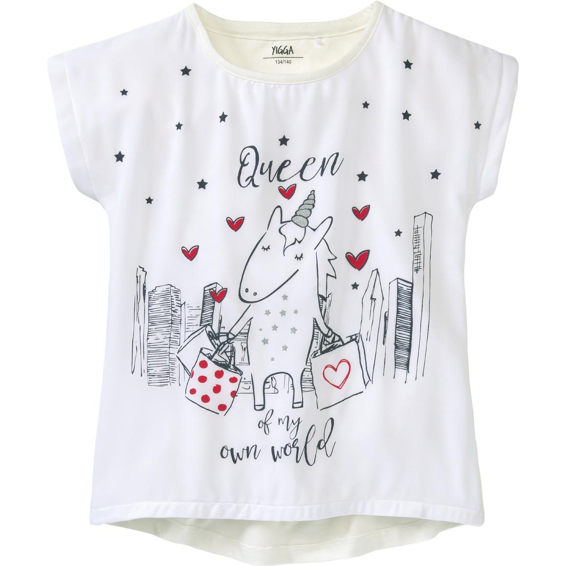 Mädchen T-Shirt mit Einhorn Print