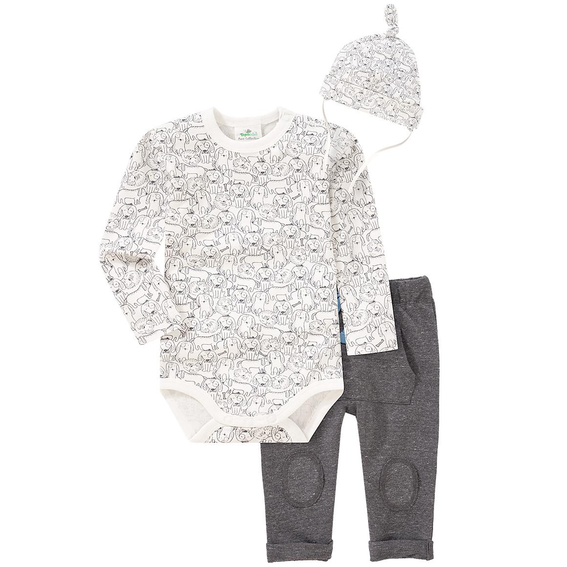 Newborn Body, Jogginghose und Mütze im Set