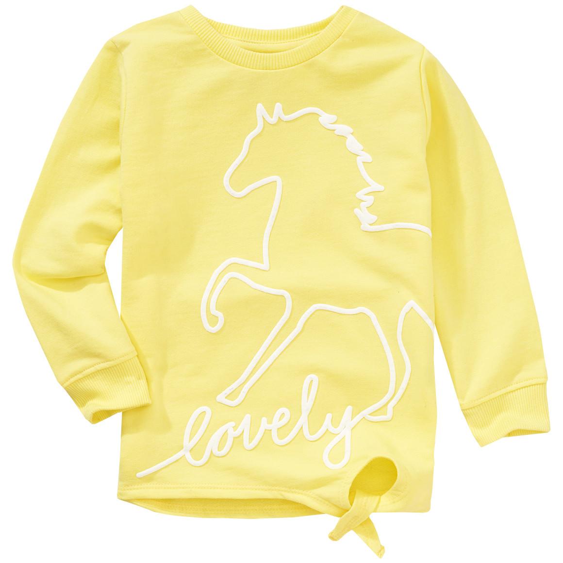 Mädchen Sweatshirt mit Pferde Print