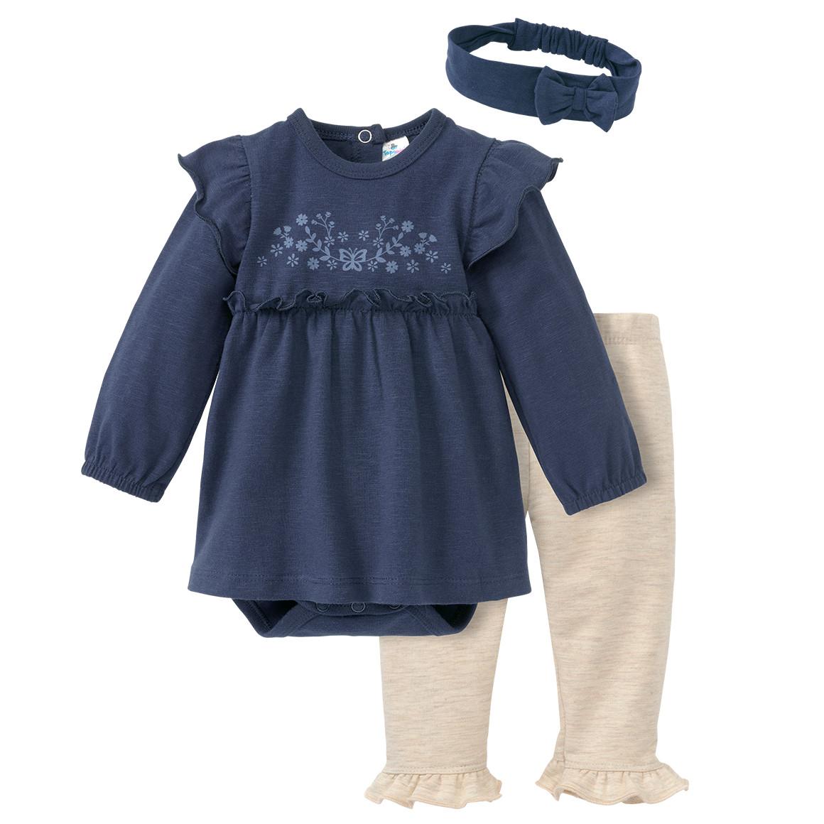 Newborn Bodykleid, Leggings und Haarband