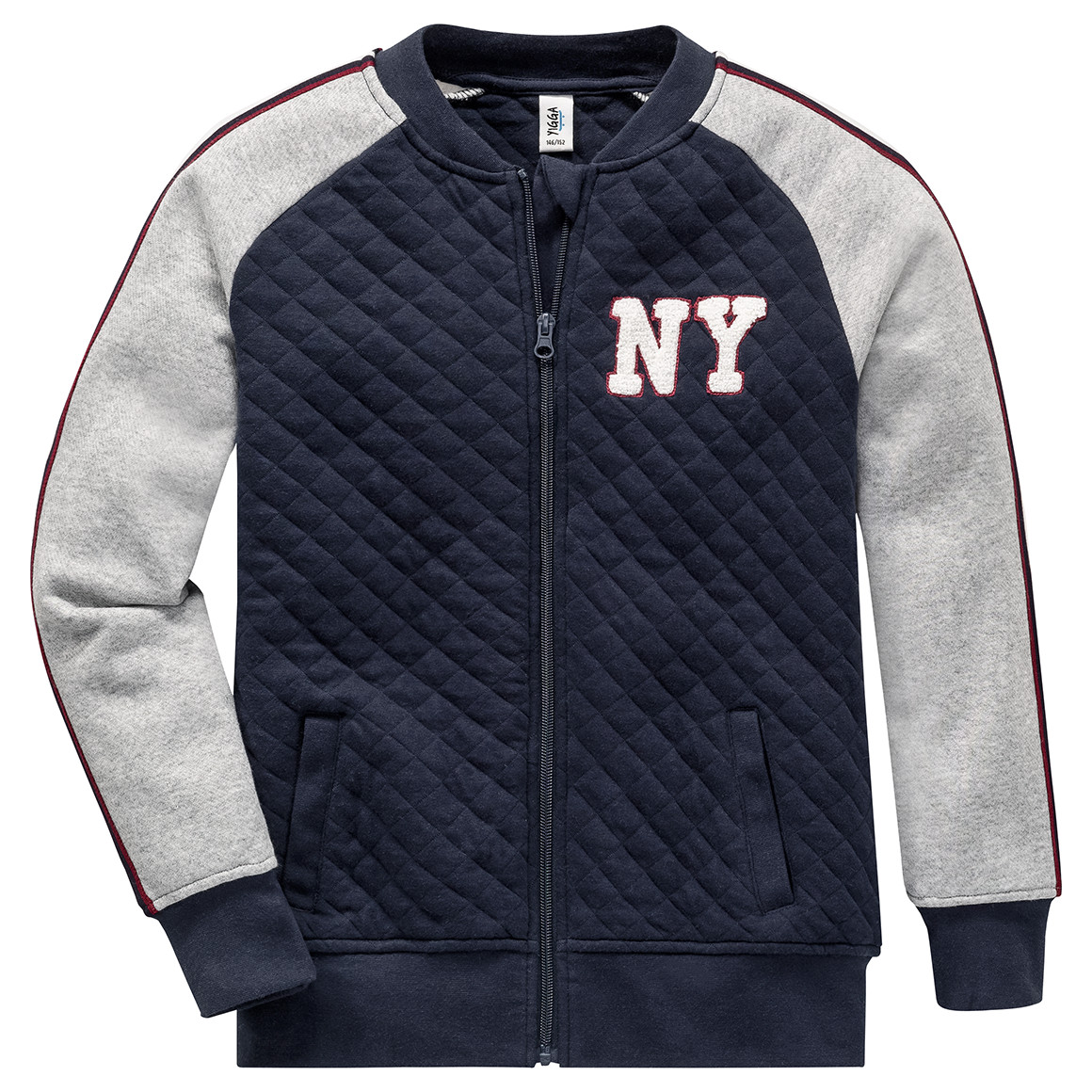 Boysjacken - Jungen Sweatjacke mit Steppmuster - Onlineshop Ernstings family