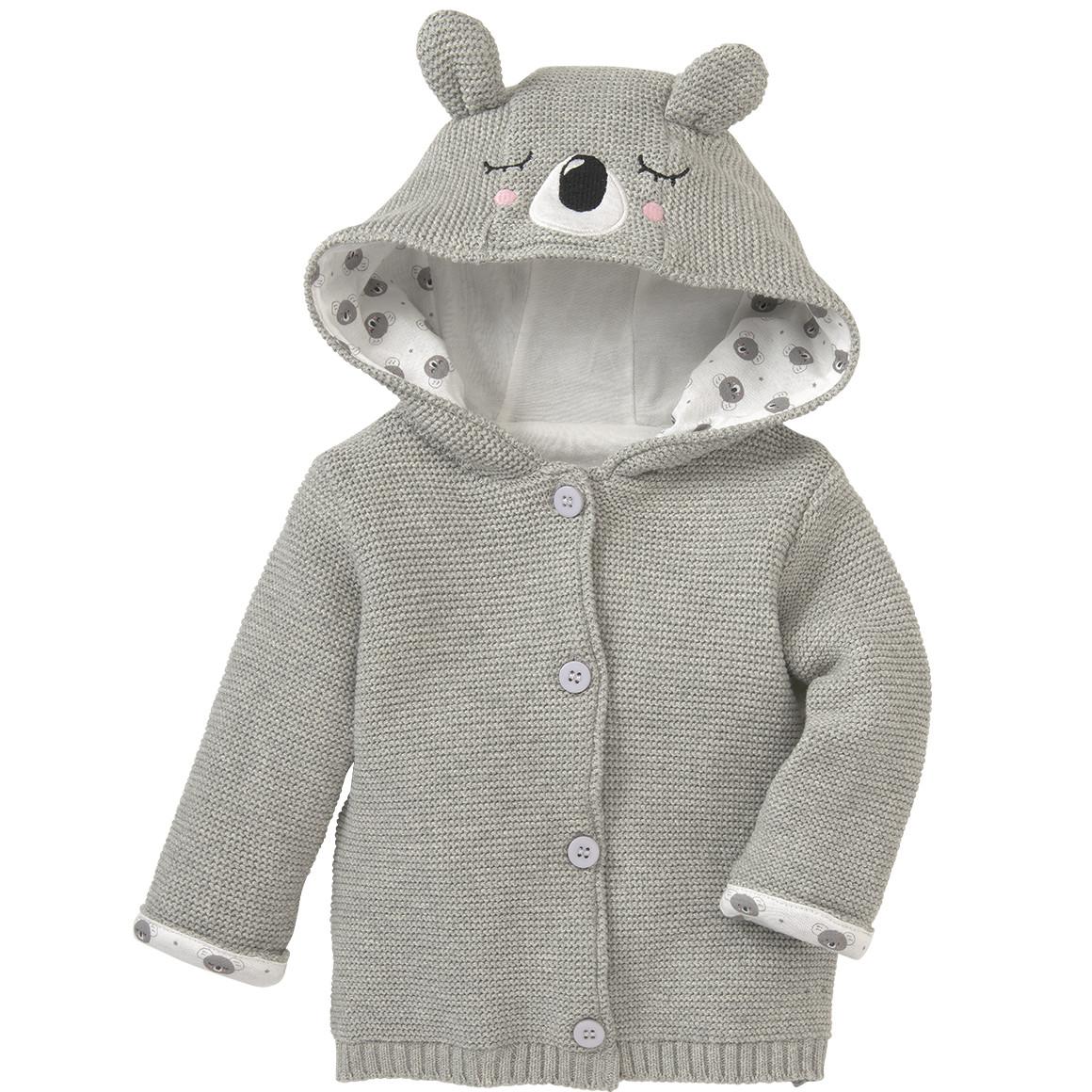 Newborn Strickjacke mit Koalabär Applikation