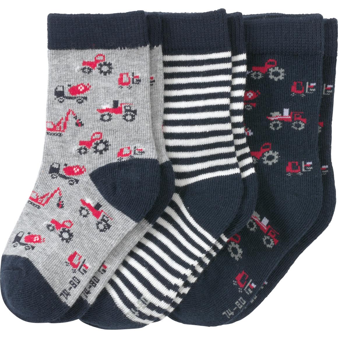 3 Paar Baby Socken in verschiedenen Dessins