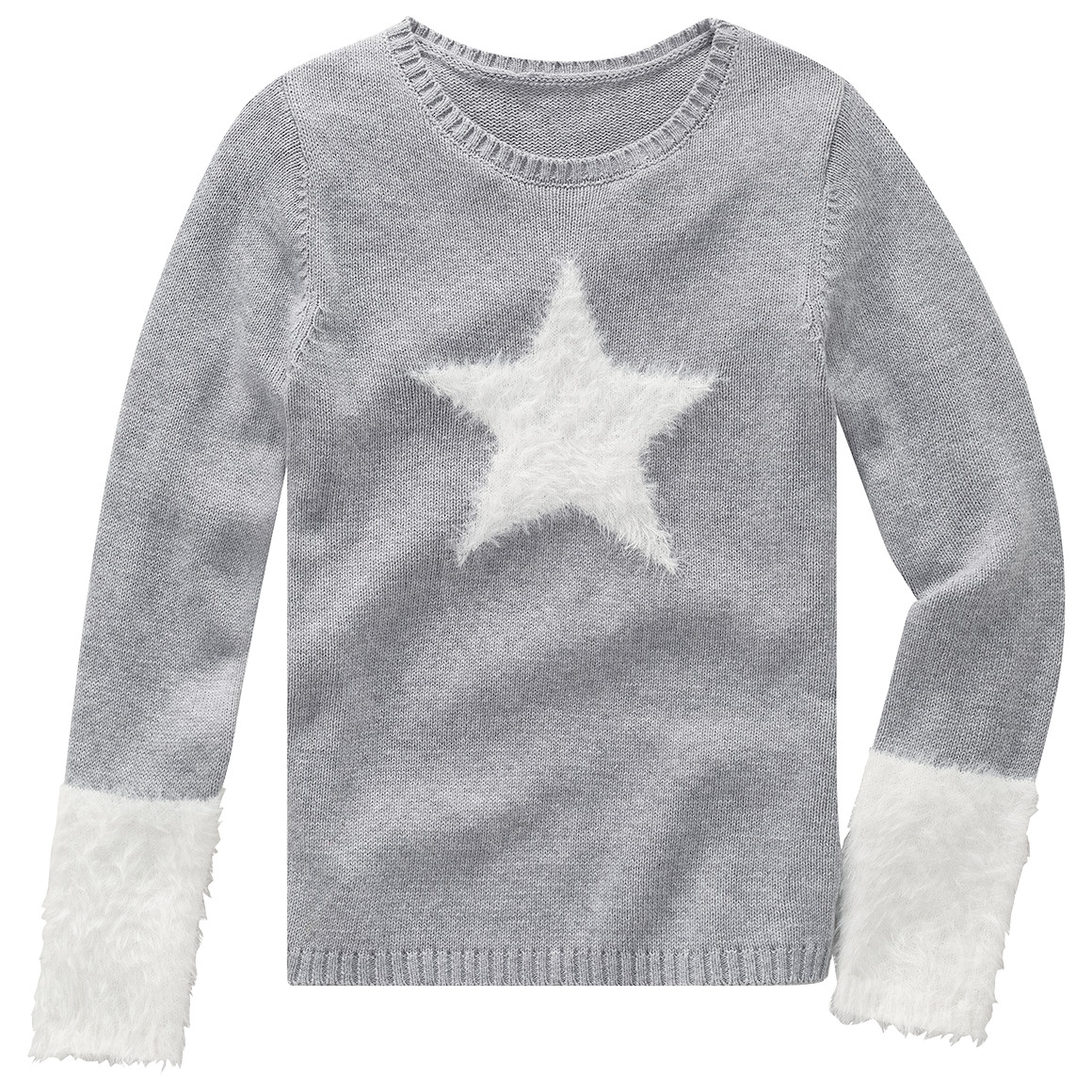 Girlsoberteile - Mädchen Strickpullover mit Featheryarn - Onlineshop Ernstings family