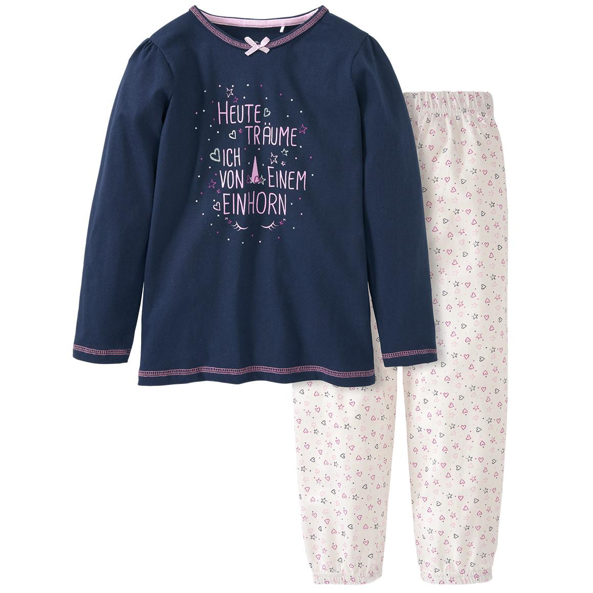 Minigirlwaeschenachtwaesche - Mädchen Schlafanzug mit Message Print - Onlineshop Ernstings family
