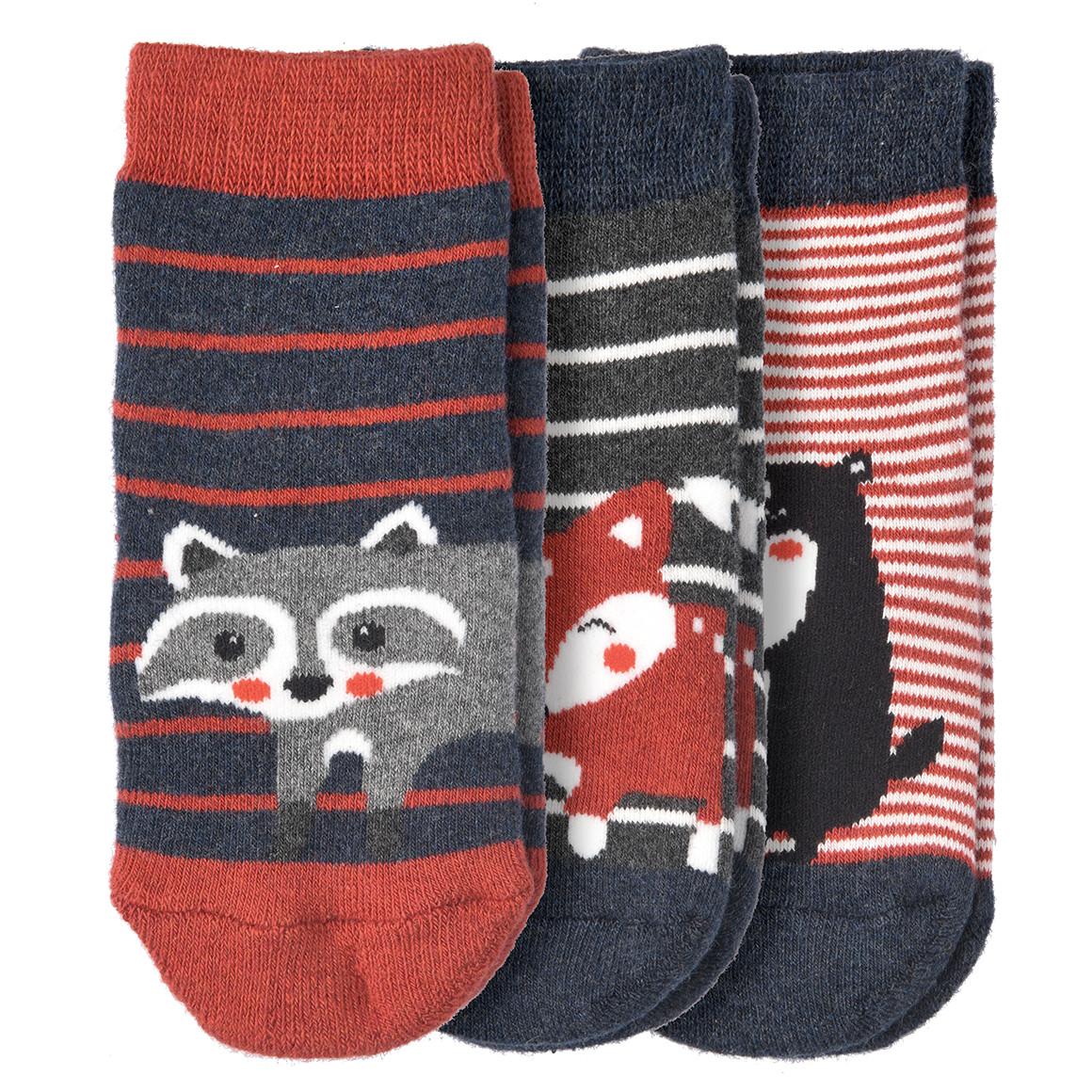 3 Paar Baby Socken mit ABS Noppen