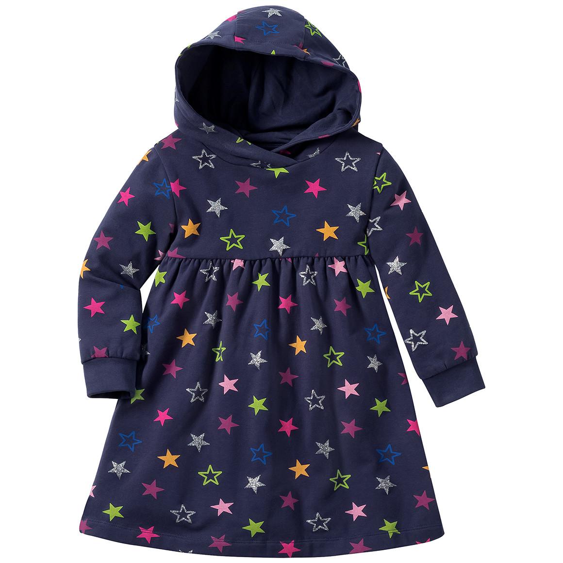 Babykleiderroecke - Baby Sweatkleid mit bunten Sternen allover - Onlineshop Ernstings family