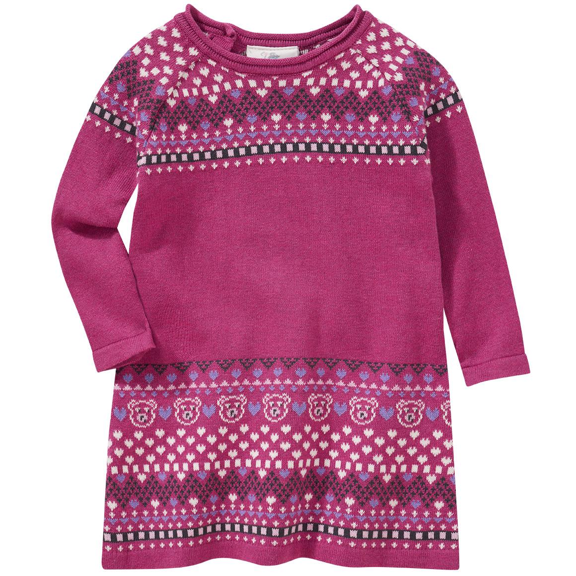 Babykleiderroecke - Baby Strickkleid mit Bordüren Muster - Onlineshop Ernstings family