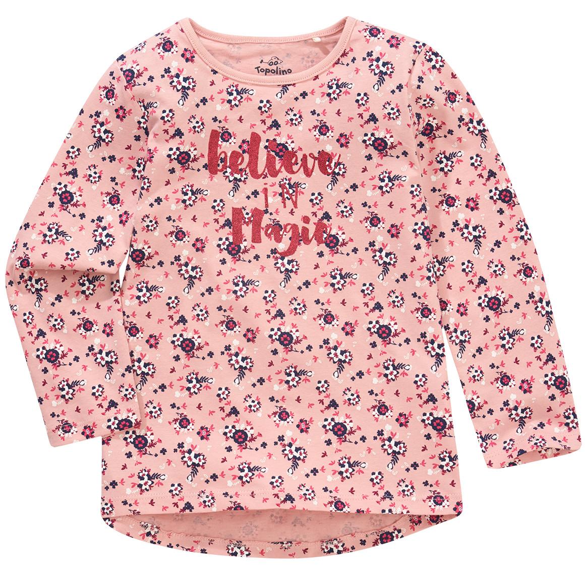 Mädchen Langarmshirt mit Allover Print