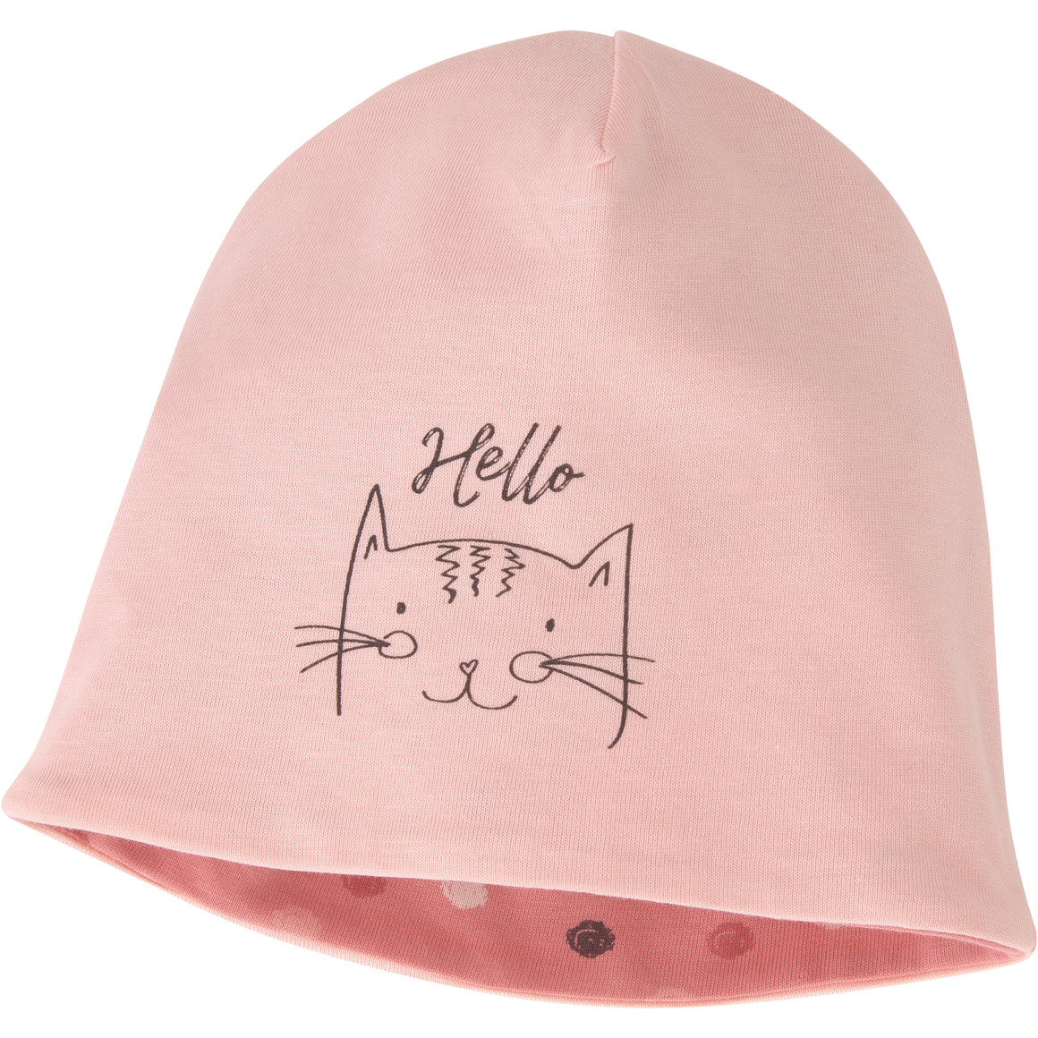 Baby Mütze mit Katzen Motiv