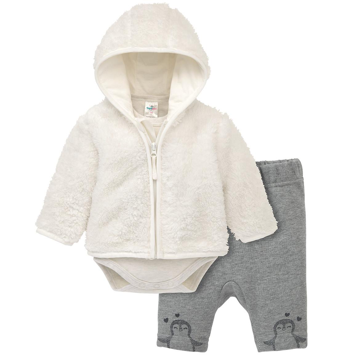 Babysets - Newborn Kuscheljacke, Body und Hose im Set - Onlineshop Ernstings family