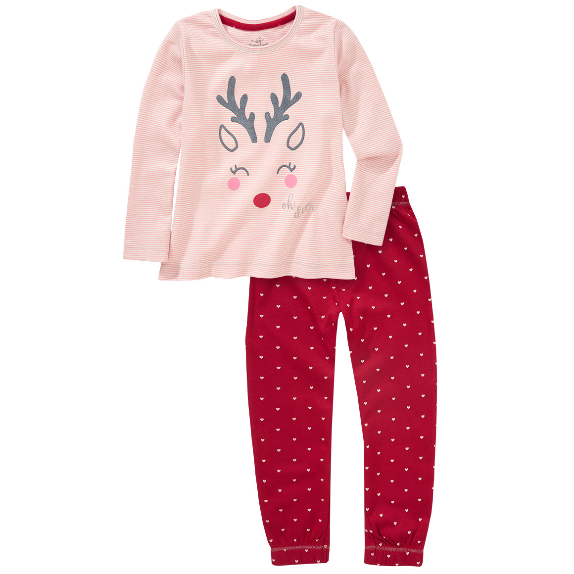 Minigirlwaeschenachtwaesche - Mädchen Schlafanzug mit Glitzer - Onlineshop Ernstings family