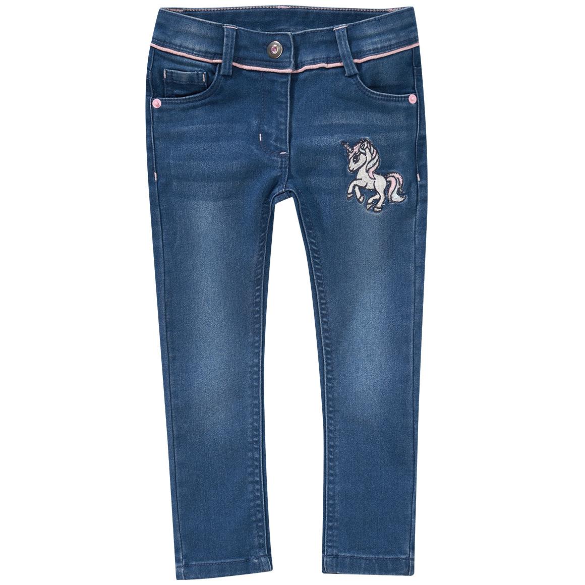 Minigirlhosen - Mädchen Skinny Jeans mit Einhorn Applikation - Onlineshop Ernstings family