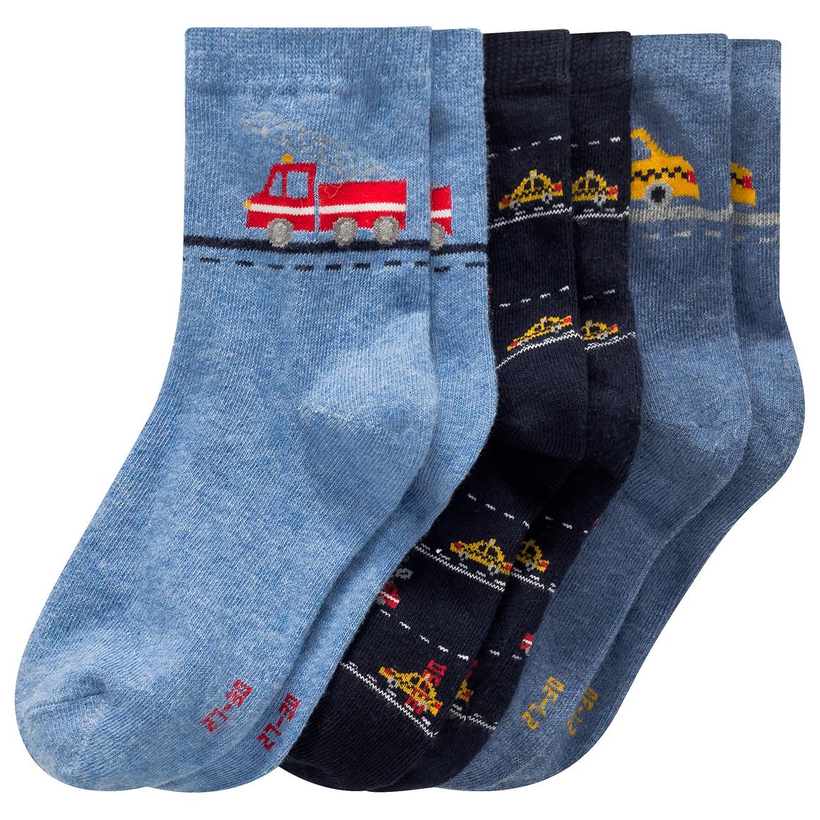 Miniboyaccessoires - 3 Paar Jungen Socken mit Auto Motiven - Onlineshop Ernstings family