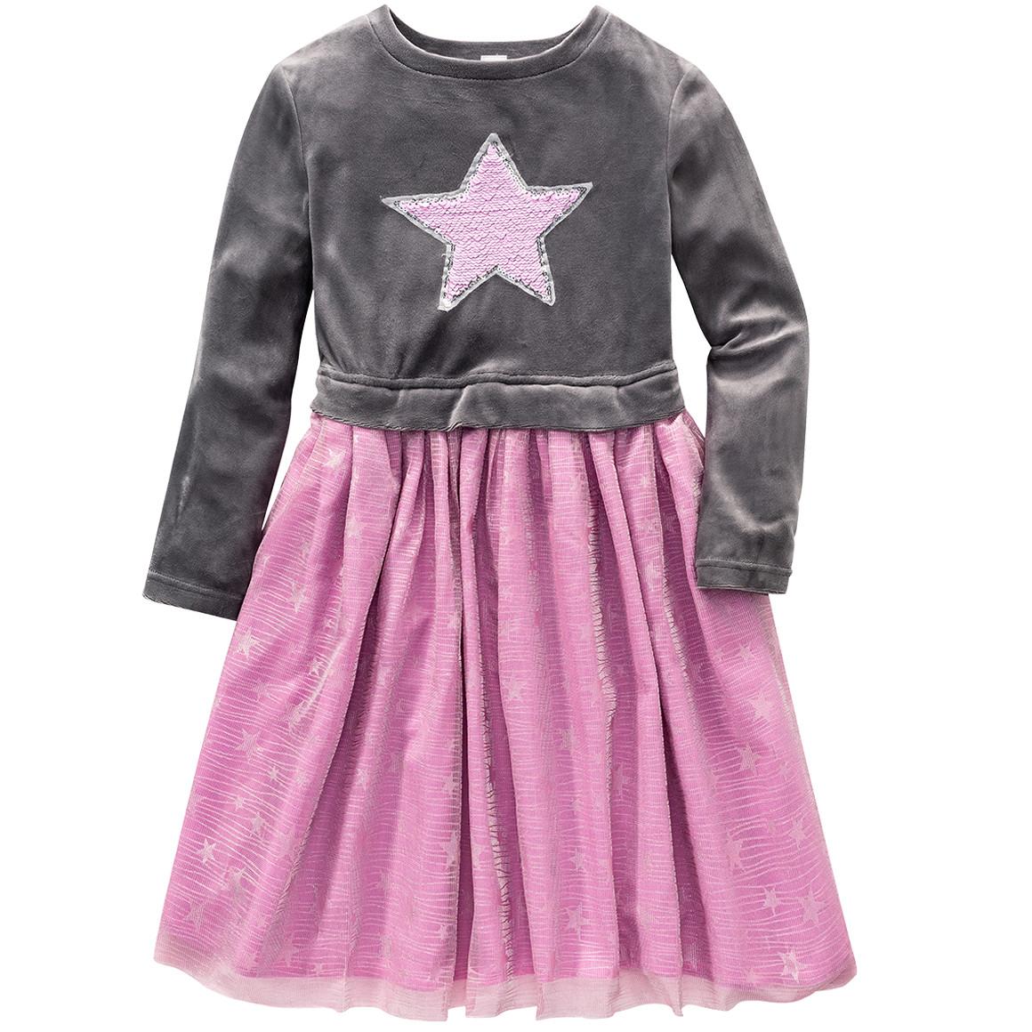 Girlsroeckekleider - Festliches Mädchen Kleid mit Wendepailletten - Onlineshop Ernstings family