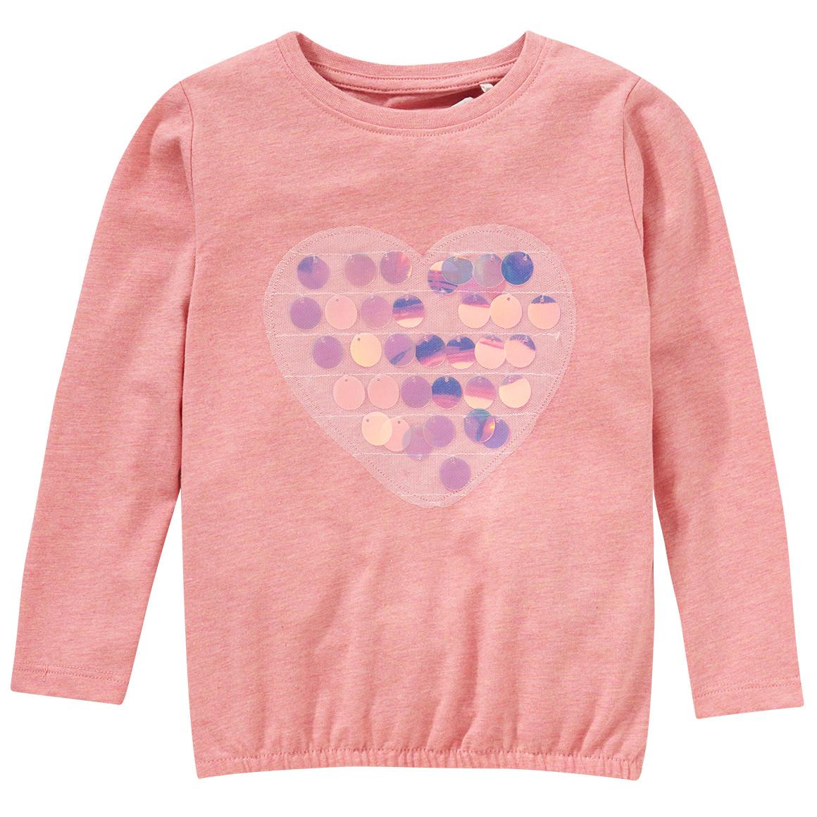 Minigirloberteile - Mädchen Langarmshirt mit großen Pailletten - Onlineshop Ernstings family