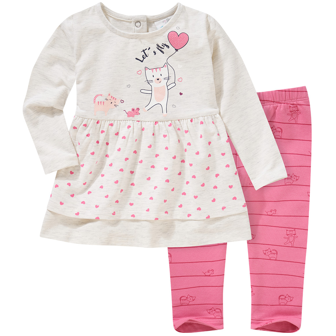 Babysets - Baby Langarmshirt und Thermo Leggings im Set - Onlineshop Ernstings family