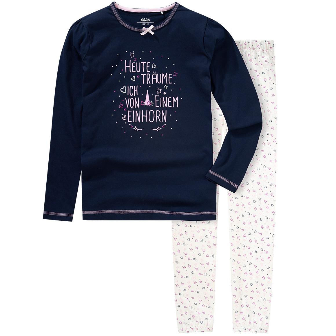 Girlswaeschenachtwaesche - Mädchen Schlafanzug mit Einhorn Print - Onlineshop Ernstings family