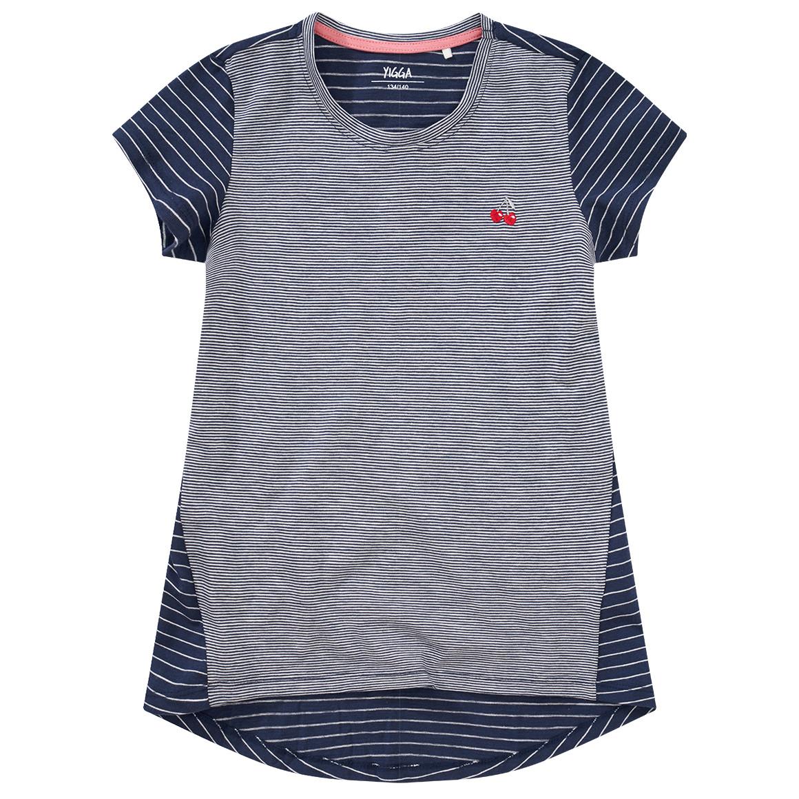 Girlsoberteile - Mädchen T-Shirt mit Kirsch Stickerei - Onlineshop Ernstings family