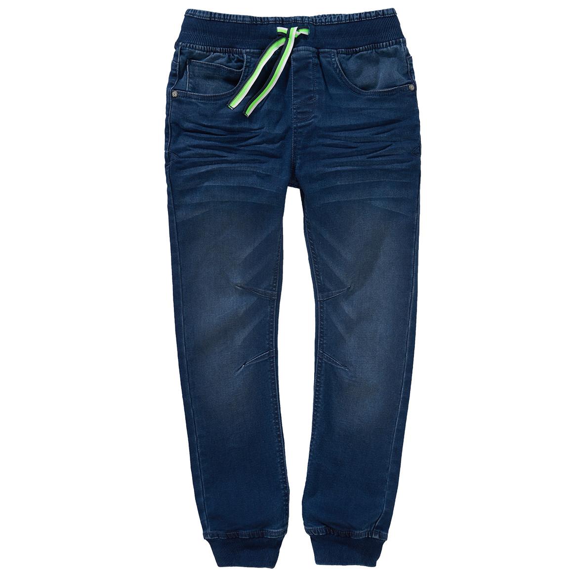 Boyshosen - Jungen Pull on Jeans mit grünen Details - Onlineshop Ernstings family