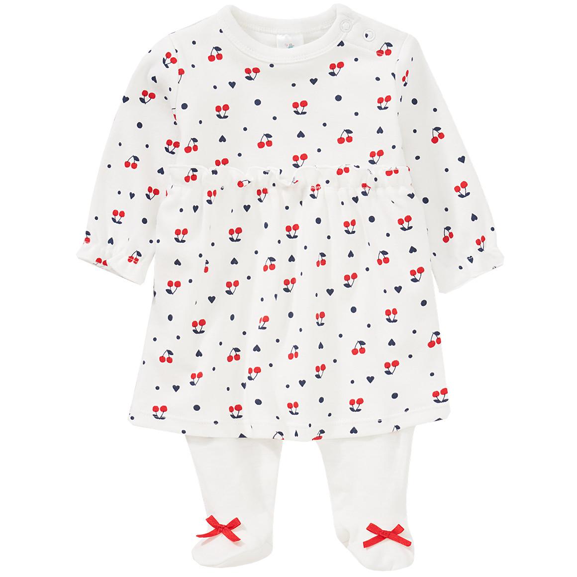 Babystrampler - Newborn Stramplerkleid mit Kirschen allover - Onlineshop Ernstings family