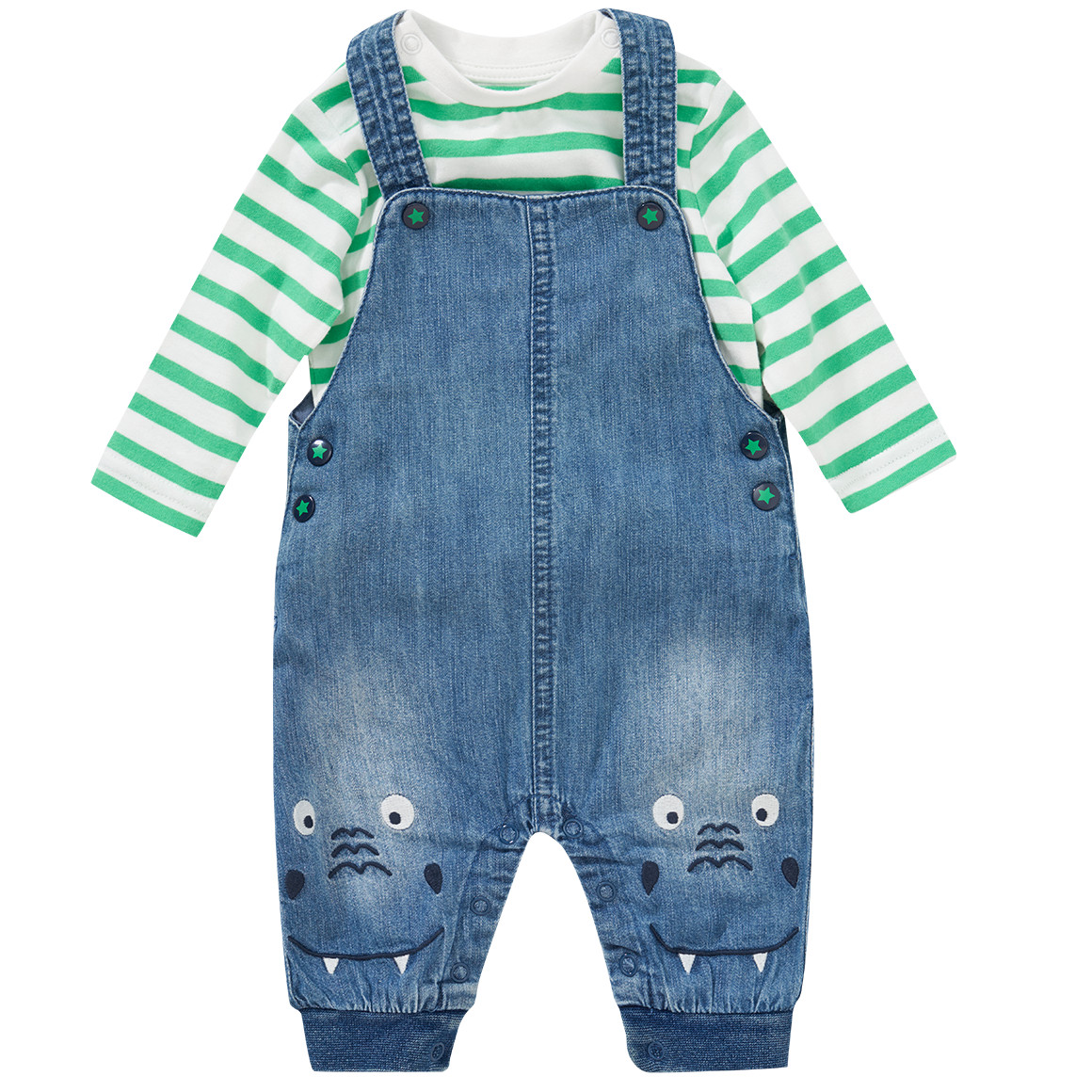 Babysets - Newborn Latzhose und Langarmshirt im Set - Onlineshop Ernstings family
