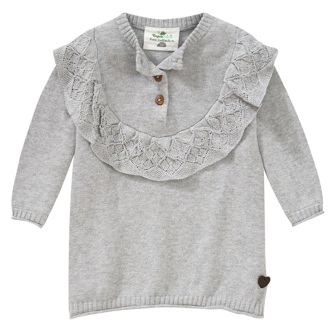 Babykleiderroecke - Newborn Strickkleid mit Rüschen - Onlineshop Ernstings family