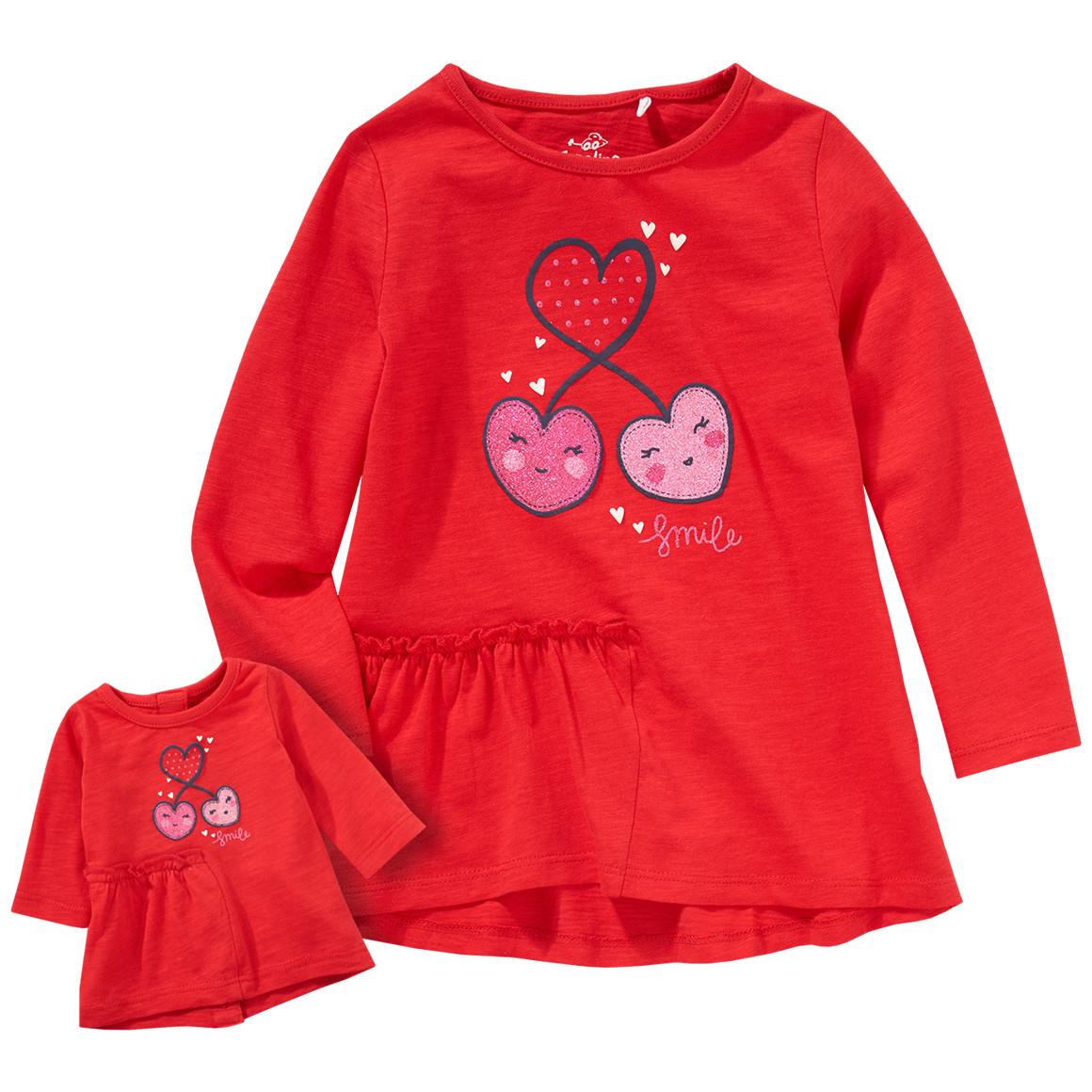 Minigirloberteile - Mädchen Langarmshirt und Puppen Shirt im Set - Onlineshop Ernstings family